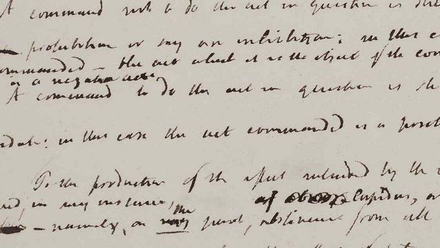 Jeremy Bentham (difficult handwriting), 19th century