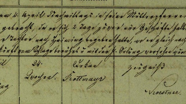 Death Registers - Joseph Rottmayr, 1847-1878